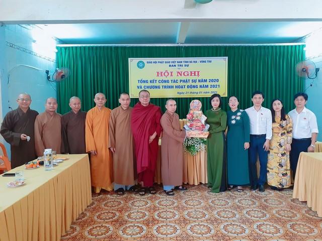 Thành ủy HĐND, UBND, UBMTTQVN thành phố Vũng Tàu thăm chúc Tết BTS Phật giáo tỉnh và BTS Phật giáo thành phố.