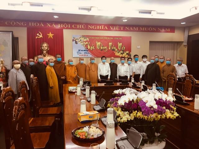 Ban Trị sự Phật giáo tỉnh và BTS các huyện, thành phố thăm và chúc Tết chính quyền tỉnh